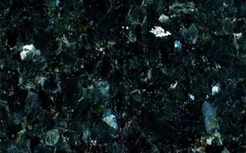 Black green nacre granite